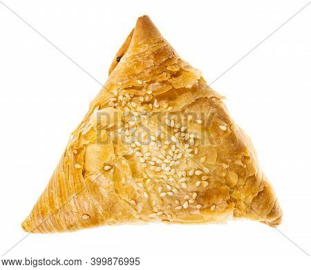 Baked Samsa (savoury Pastry Stuffed With Minced Meat And Chopped Onion In Central Asian Cuisine) Iso