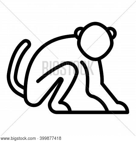 Mammal Gibbon Icon. Outline Mammal Gibbon Vector Icon For Web Design Isolated On White Background