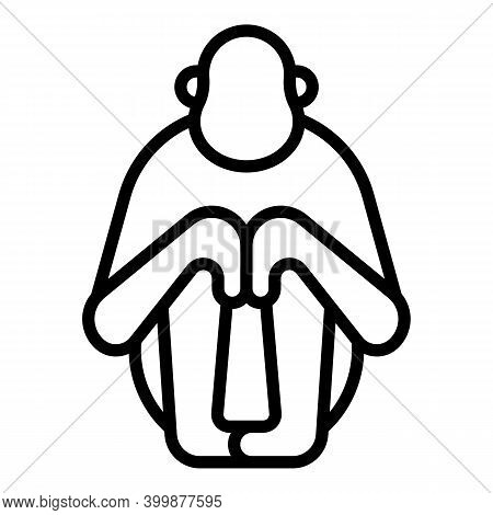 Chimp Gibbon Icon. Outline Chimp Gibbon Vector Icon For Web Design Isolated On White Background