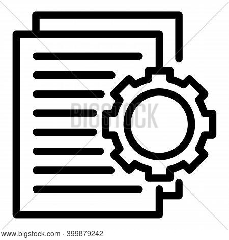 Technical Interview Icon. Outline Technical Interview Vector Icon For Web Design Isolated On White B