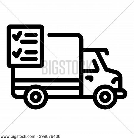 Event Delivery Icon. Outline Event Delivery Vector Icon For Web Design Isolated On White Background