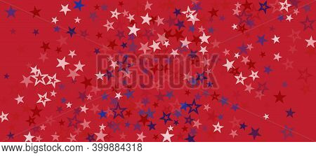 National American Stars Vector Background. Usa Veterans Presidents 4th Of July Memorial Labor 11th O