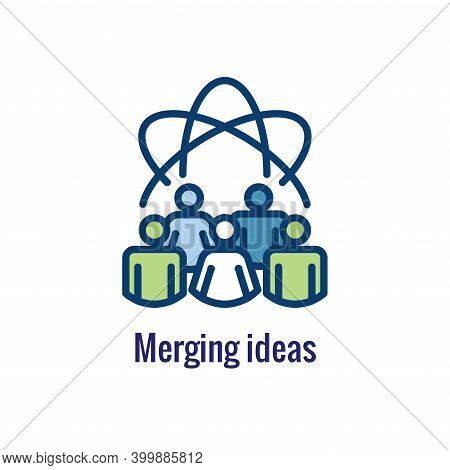 Companies Merging Together, One Buying Out The Other & Icon Set Banner