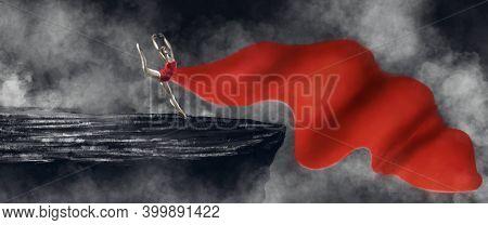 Digital Illustration Of A Jung Ballet Dancer Performing