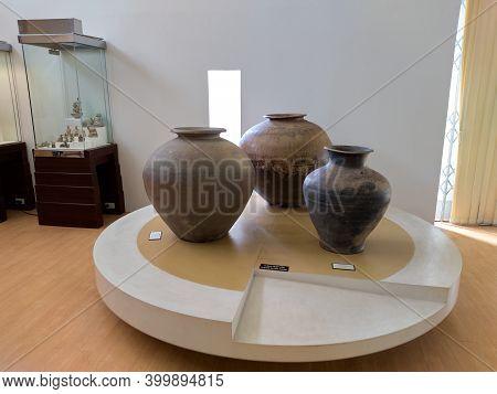 Ramkhamhaeng National Museum Sukhothai Thailand-29 November 2020:located At Muang Kao  Images For Ed
