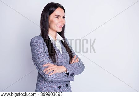Profile Photo Of Attractive Experienced Professional Bossy Chief Lady Arms Crossed Good Mood Look In