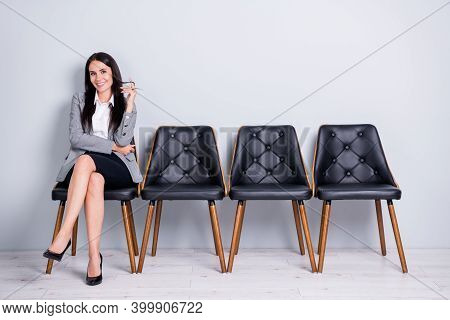 Portrait Of Her She Nice-looking Attractive Pretty Elegant Cheerful Lady Partner Leader Economist Ma