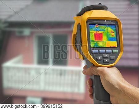 Recording With Thermal Camera Heat Loss In The Attic At The Family House
