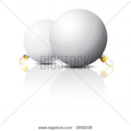 Clear White Christmas Bulbs