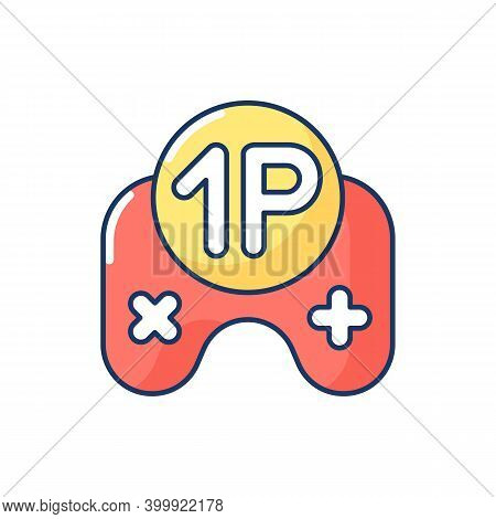 Single Player Game Rgb Color Icon. Videogame Solo Mode. Popular Modern Entertainment, Virtual Pastim
