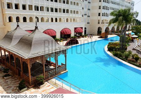 Antalya, Turkey - April 23: The Mardan Palace Luxury Hotel Is Considered Europes Most Expensive Luxu