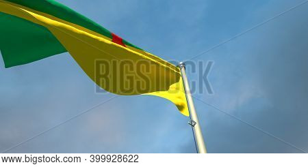 3d Rendering Of The National Flag Of The French Guiana