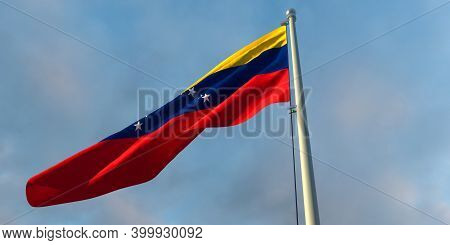 3d Rendering Of The National Flag Of The Venezuela