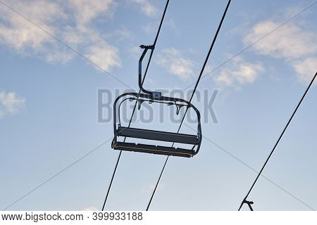 Chairlift on a ski resort withno people