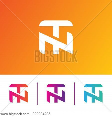 Modern And Unique Colorful Nt Letter Logo Icon Vector Template Elements, Corporate, Shape
