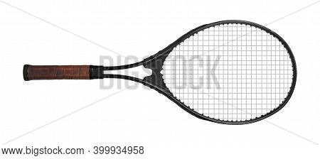 Sports Equipment - Tennis Racket Isolated On A White Background.