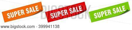Super Sale Sticker. Super Sale Square Isolated Sign. Super Sale Label