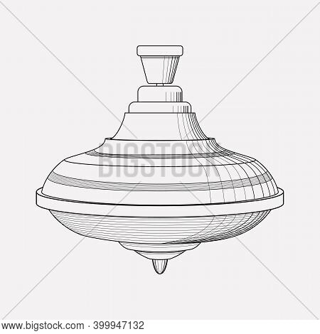 Humming Top Icon Line Element. Vector Illustration Of Humming Top Icon Line Isolated On Clean Backgr