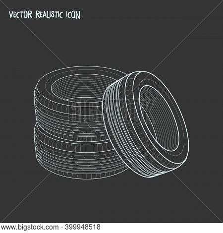 Tyres Icon Line Element. Illustration Of Tyres Icon Line Isolated On Clean Background For Your Web M