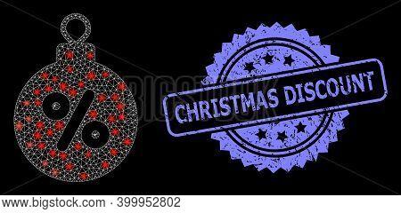 Glowing Mesh Network Christmas Discount Ball With Glowing Spots, And Christmas Discount Dirty Rosett