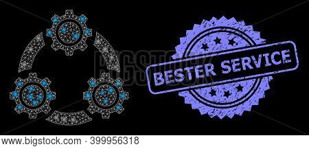 Bright Mesh Net Gear Planetary Transmission With Light Spots, And Bester Service Corroded Rosette Se