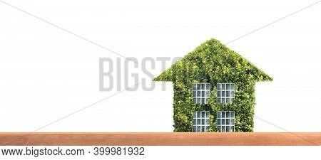 House Model There Space. Home Eco Real Estate Concept