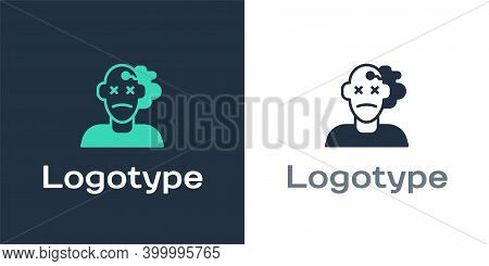 Logotype Murder Icon Isolated On White Background. Body, Bleeding, Corpse, Bleeding Icon. Concept Of