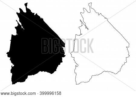Cocke County, State Of Tennessee (u.s. County, United States Of America, Usa, U.s., Us) Map Vector I