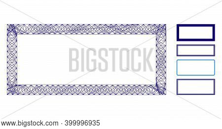 Vector Wire Frame Rectangle Frame. Geometric Wire Frame Flat Net Based On Rectangle Frame Icon, Desi