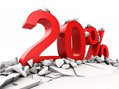 20 percent discount breaks ground poster