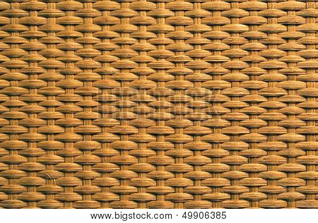 Natural rattan weave texture background