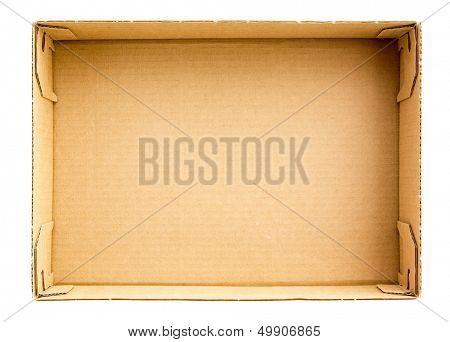 Bottom of empty cardboard box