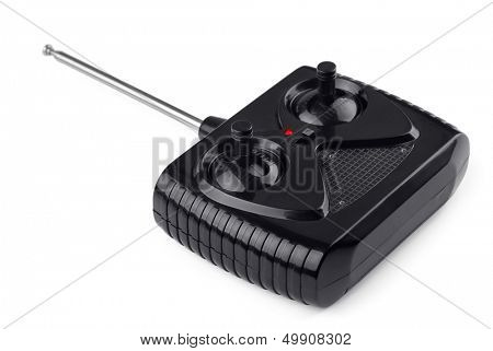 Radio remote control for toy car isolated on  white