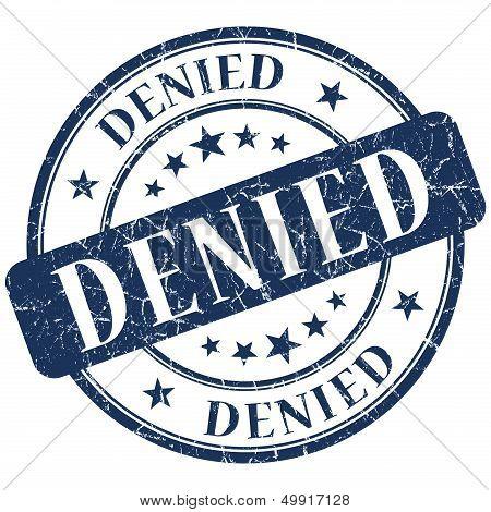 Denied Blue Stamp