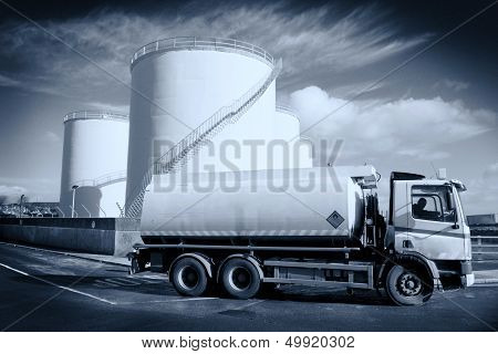 Truck With Fuel Tank .