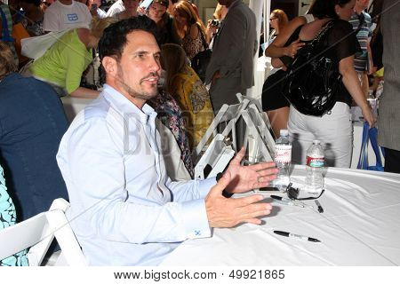 LOS ANGELES - AUG 23:  Don Diamont at the Bold and Beautiful Fan Meet and Greet at the Farmers Market on August 23, 2013 in Los Angeles, CA