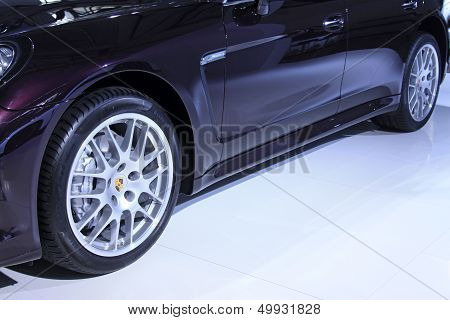 Car Wheels In A Car Sales Shop