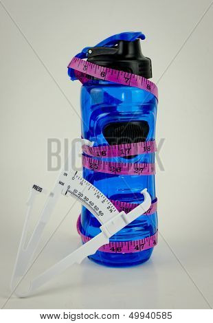 Water Bottle With Caliper