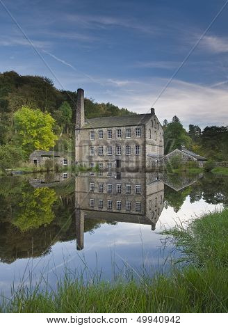Gibson Mill in Hardcastle Crags nature park, Hebden Bridge, Calderdale, West Yorkshire