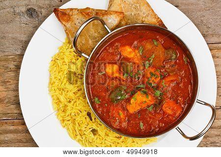 Chicken Jalfrezi Balti Dish