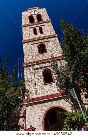 Bell Tower Of Orthodox Church In Pefkochori, Greece