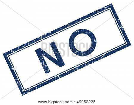 No Blue Square Stamp