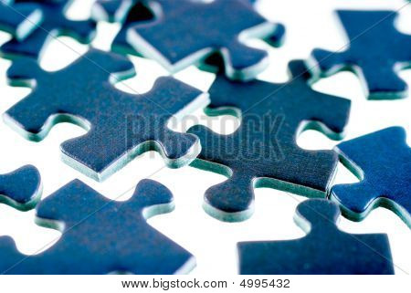 Pieces Of Puzzle, Isolated On White Background