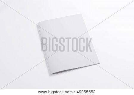 Blank Closed Magazine Isolated On White