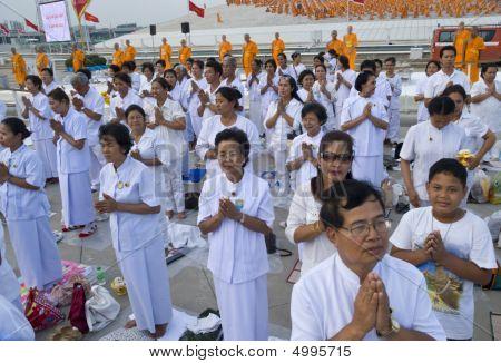 Buddhist Disciples In Prayor