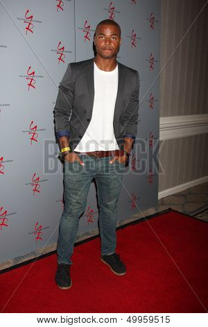 LOS ANGELES - AUG 24:  Redaric Williams at the Young & Restless Fan Club Dinner at the Universal Sheraton Hotel on August 24, 2013 in Los Angeles, CA