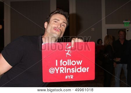 LOS ANGELES - AUG 24:  Daniel Goddard at the Young & Restless Fan Club Dinner at the Universal Sheraton Hotel on August 24, 2013 in Los Angeles, CA
