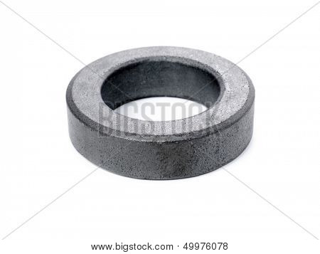 Ferrite ring isolated on white background.