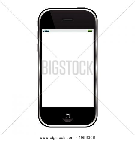 Modern cell phone isolated over white background poster