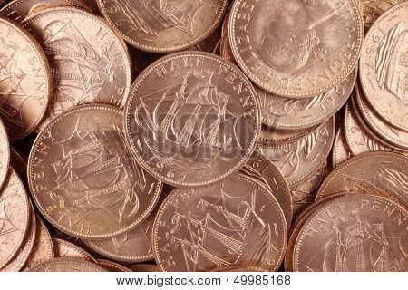 British uncirculated half pennies from 1967 poster